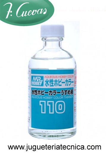 Diluyente Aqueous Hobby Color 110 ml. Gunze T-110